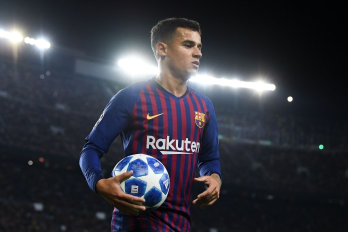 Coutinho has struggled since signing for Barcelona in January 2018