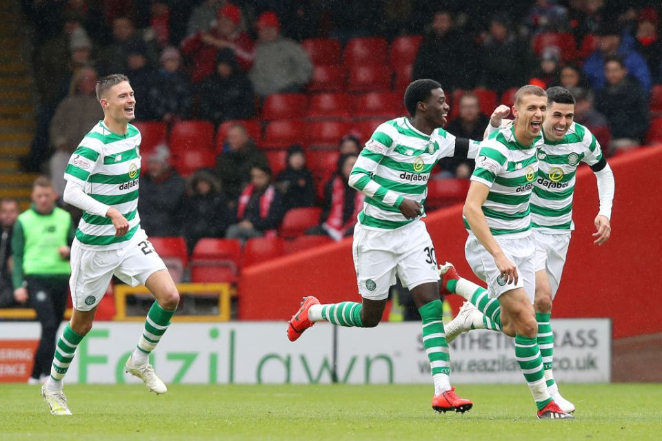 Simunovic's goal gave Celtic a two-goal cushion shortly after the break
