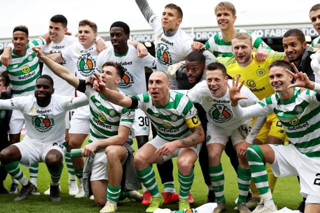 Celtic are already champions, having won their eighth successive title