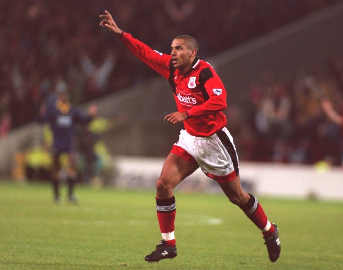 Collymore shone for Forest throughout this campaign