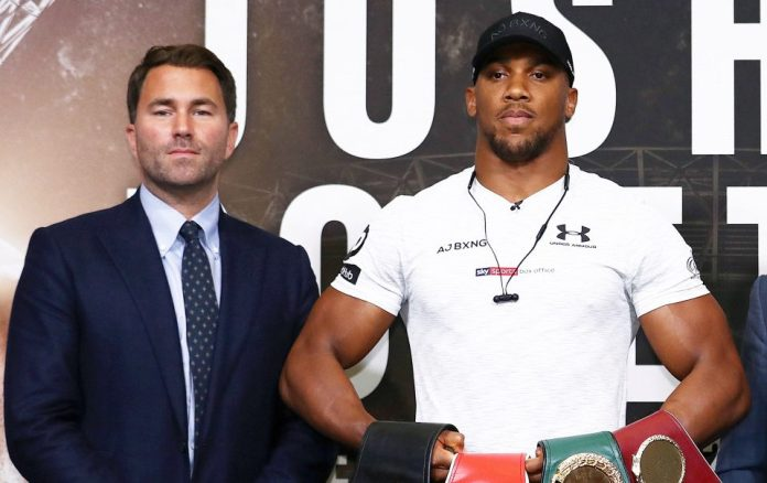 Eddie Hearn is one boxing's biggest names and promotes Anthony Joshua