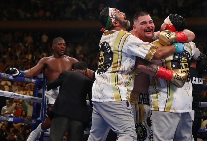 Andy Ruiz Jr knocked Anthony Joshua down four times, causing a seventh-round stoppage