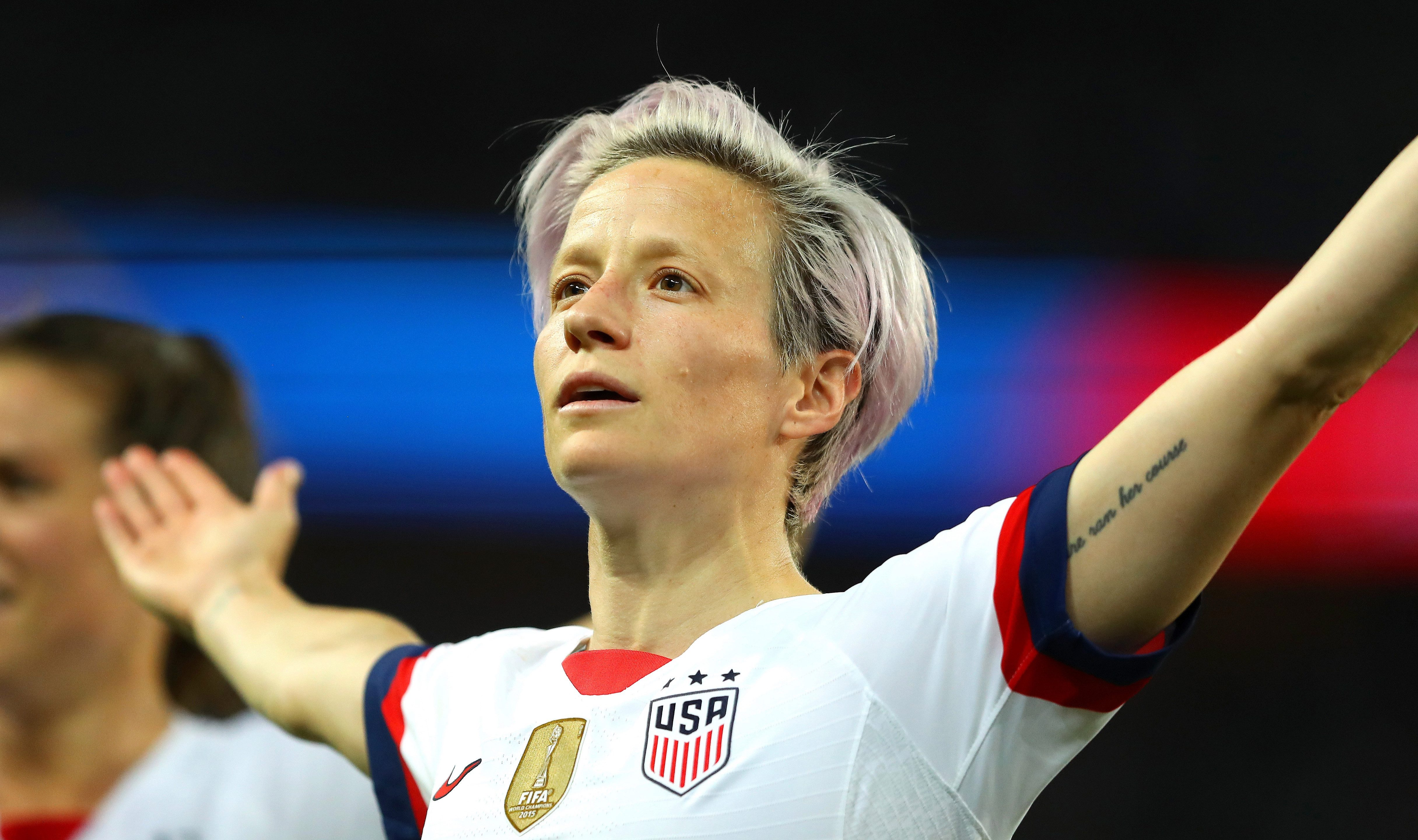 Megan Rapinoe scored both of goals for the USA in their quarter-final victory