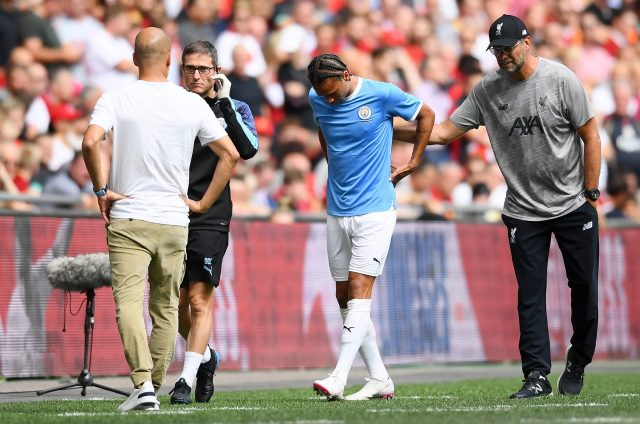 Leroy Sane is expected to return to action before the end of the season