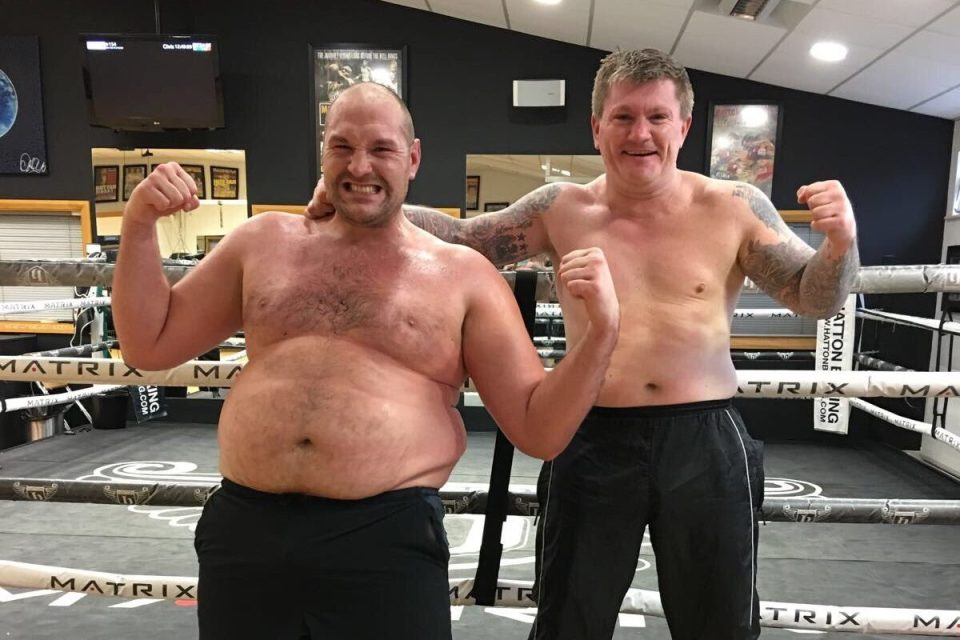 Fury once bragged about being out of shape and called AJ a 'bodybuilder'