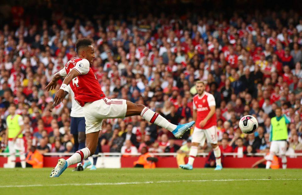 Aubameyang scored against Tottenham in the 2019 comeback
