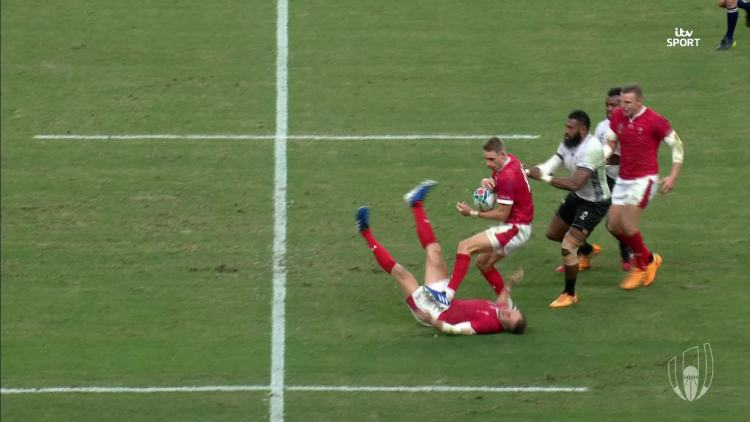 Biggar's head crashed against the turf in the worrying incident