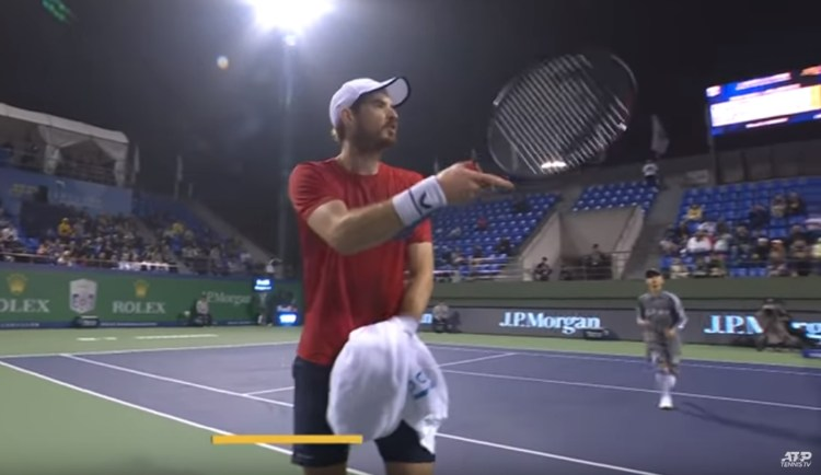 Murray was involved in a heated exchange with Fabio Fognini