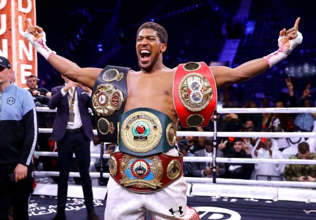 Joshua is a two-time unified heavyweight world champion