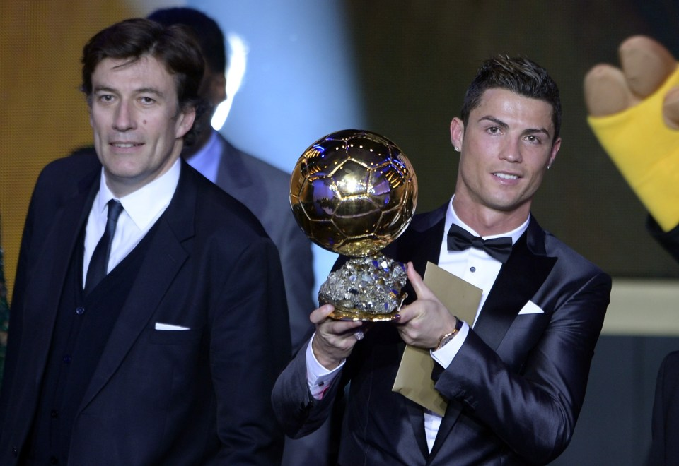 Ronaldo has won it five times during his career