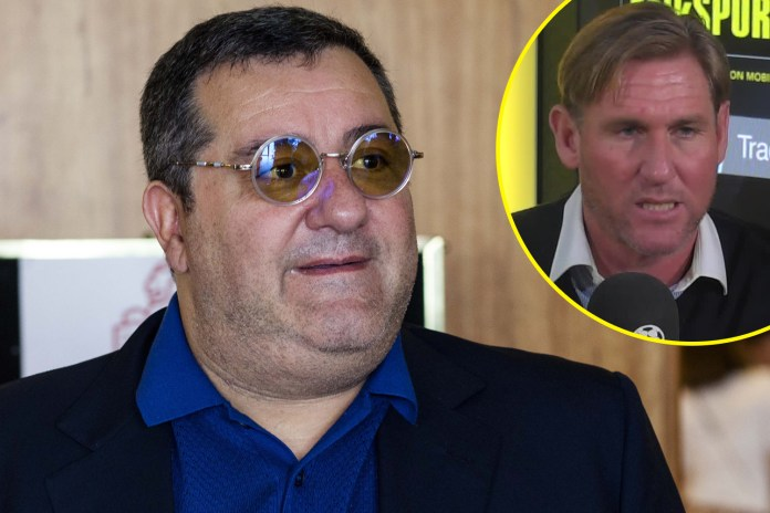 Simon Jordan was very critical of Raiola and other agents