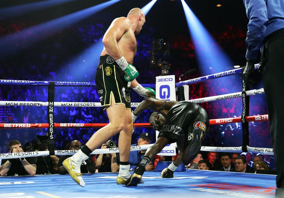 Fury knocked down Wilder twice and stopped him in the seventh round of their rematch