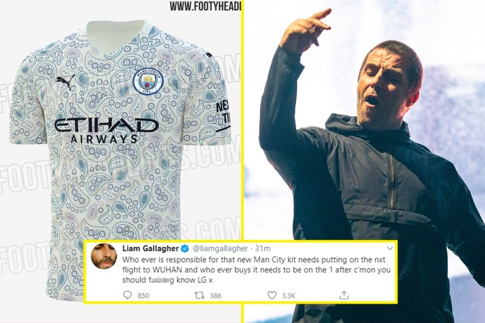 Liam Gallagher was not a fan of the third strip leaked over for next season