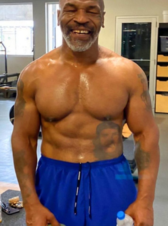 Tyson last fought 15 years ago but has got himself back in top shape
