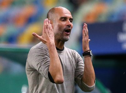 Man City Boss Pep Guardiola Accused Of Trying To Be Too Clever As Tactical  Gamble Backfires Against Lyon