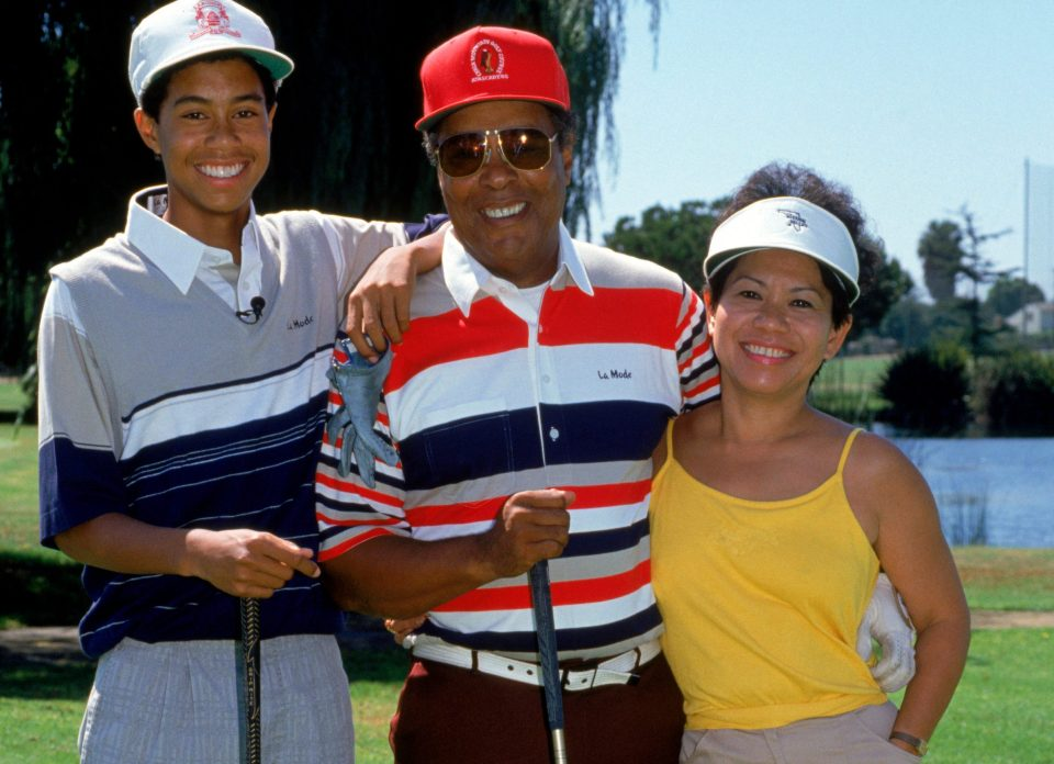 Woods' parents taught him how to survive in a cold golf world