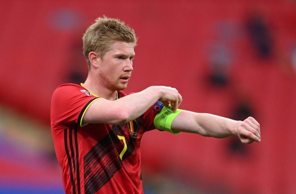 Kevin De Bruyne suffered an injury during the Champions League final