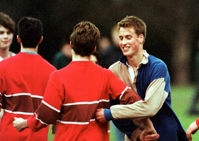 Prince William resorted to some crafty tactics to gain the upper hand on the football pitch during his schoolboy days