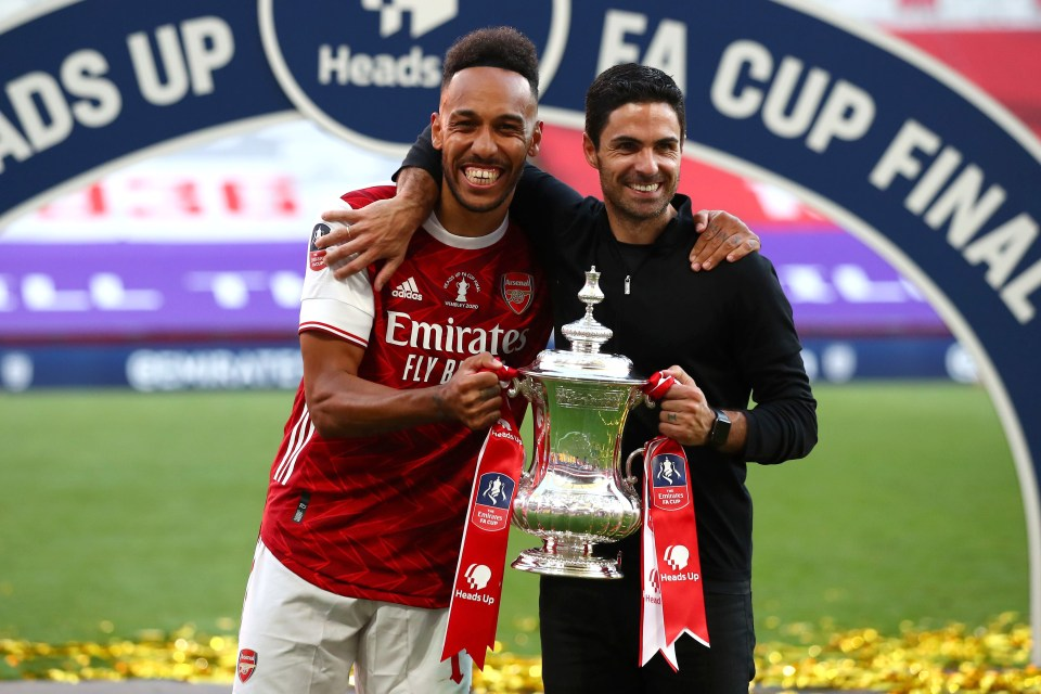 Arteta steered Arsenal to FA Cup glory last year, but O'Hara expects more from the Spaniard