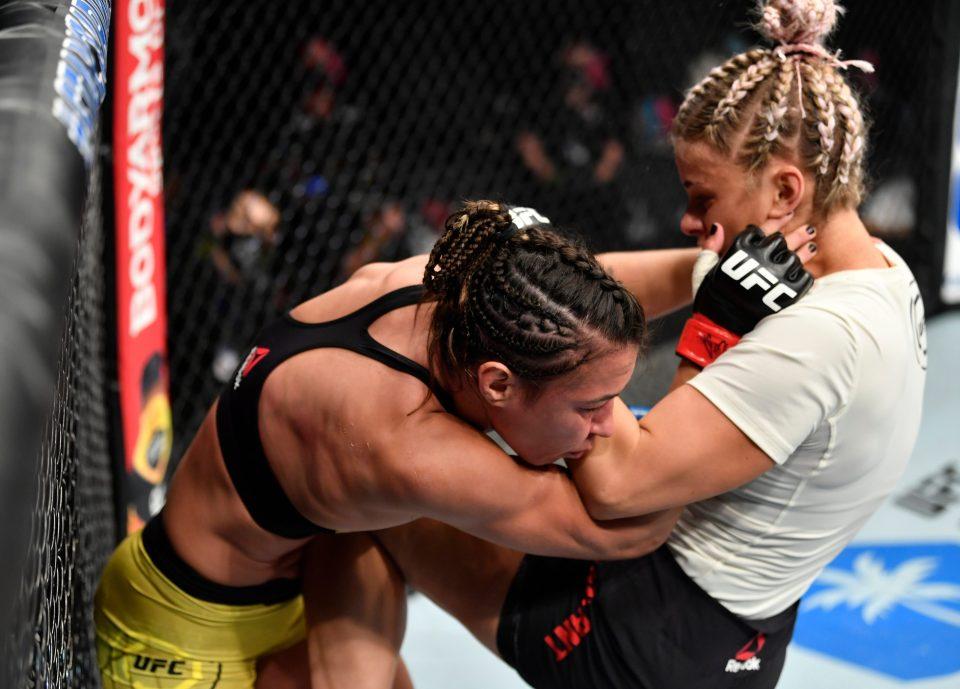 Amanda Ribas beat VanZant in one round in her last fight against UFC