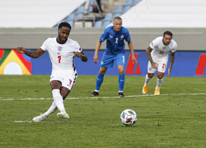 Raheem Sterling tucked away a penalty for England to see off Iceland