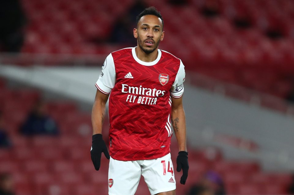 Aubameyang has just one goal and one assist in six Premier League games this season
