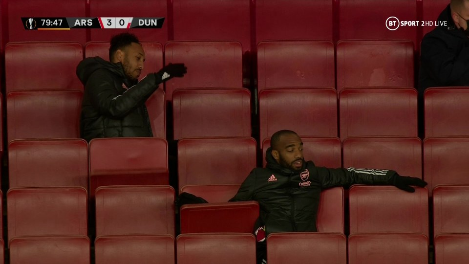 Was Aubameyang frustrated at Arsenal for not going 4-0?
