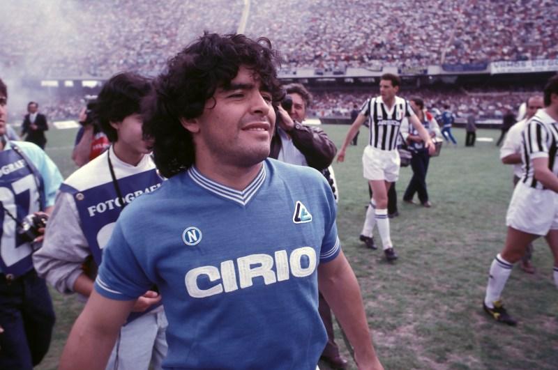 Diego Maradona won two Serie A titles with Napoli