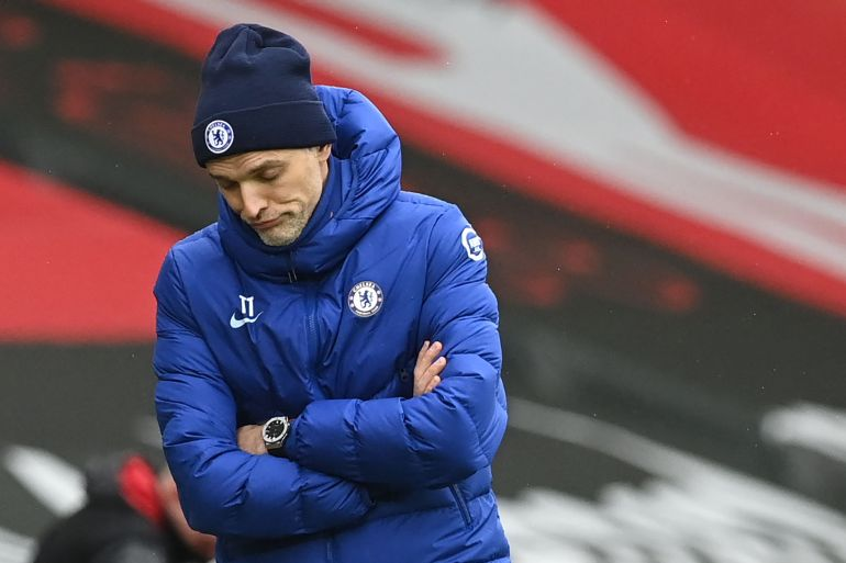 It was another lively afternoon on the bench for Tuchel, who was unhappy with Hudson-Odoi's performance.