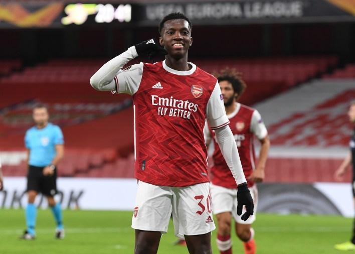 Nketiah, Arsenal'de yüksek puan aldı ancak West Ham ile daha önce ilgilenerek hareket edebilirdi.