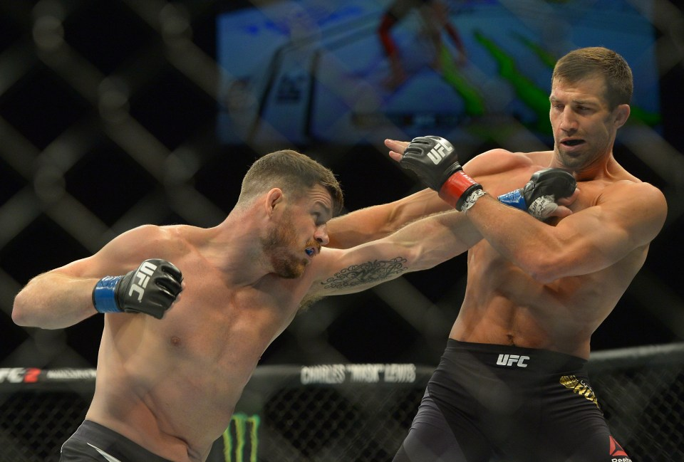 Bisping knocked out Luke Rockhold in their rematch at UFC 199 to claim the middleweight world title