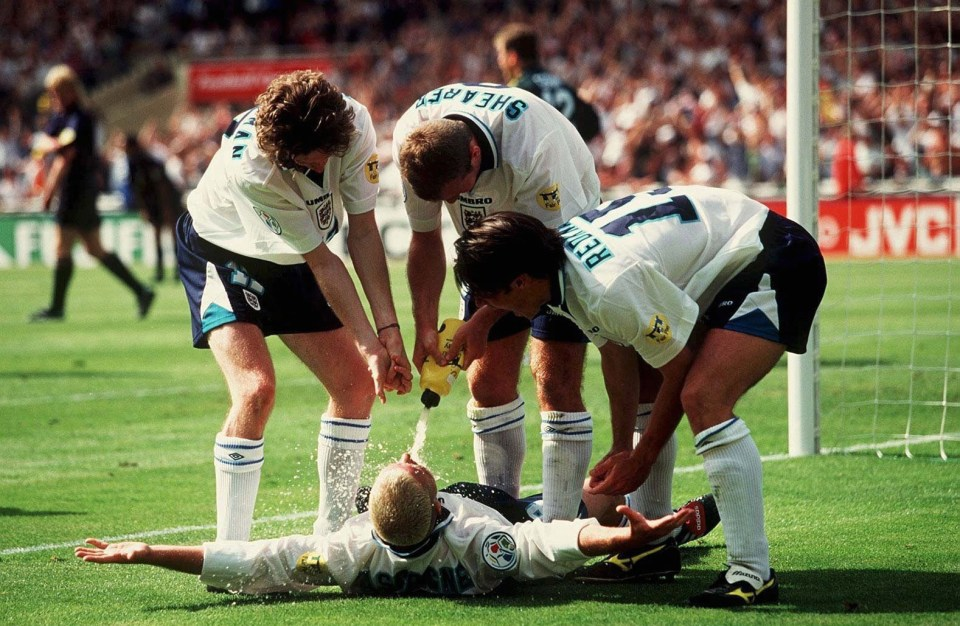 Three Lions grew up on Gascoigne and the rest of the England squad