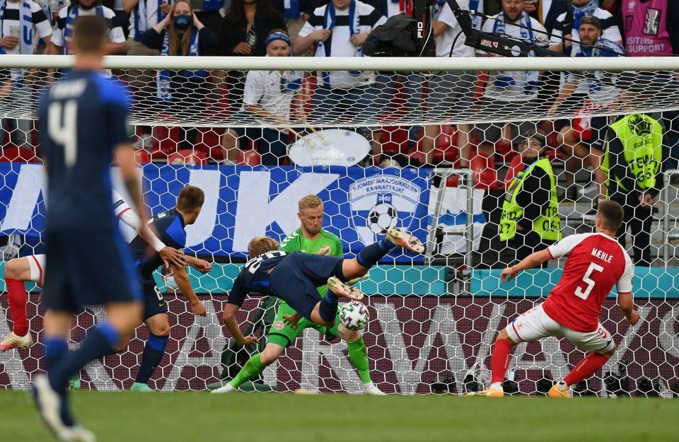 Denmark's captain usually saves his head