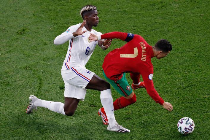 Pogba, Portekiz ikonunun iki penaltısına rağmen Ronaldo'yu geride bıraktı