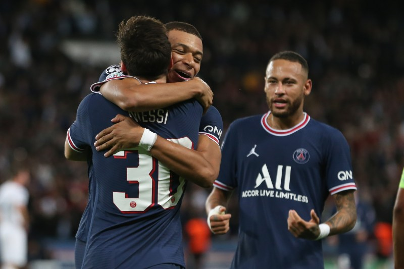 Messi combined with Kylian Mbappe for the goal