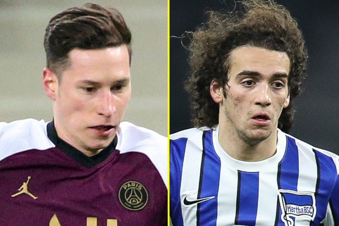 Paris Saint-Germain to offer Arsenal Julian Draxler for Matteo Guendouzi in January swap deal with midfielder's Hertha Berlin future up in the air