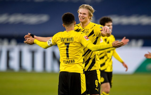 Haaland got on the scoresheet twice for the visitors as they romped to a 4-0 win against Schalke