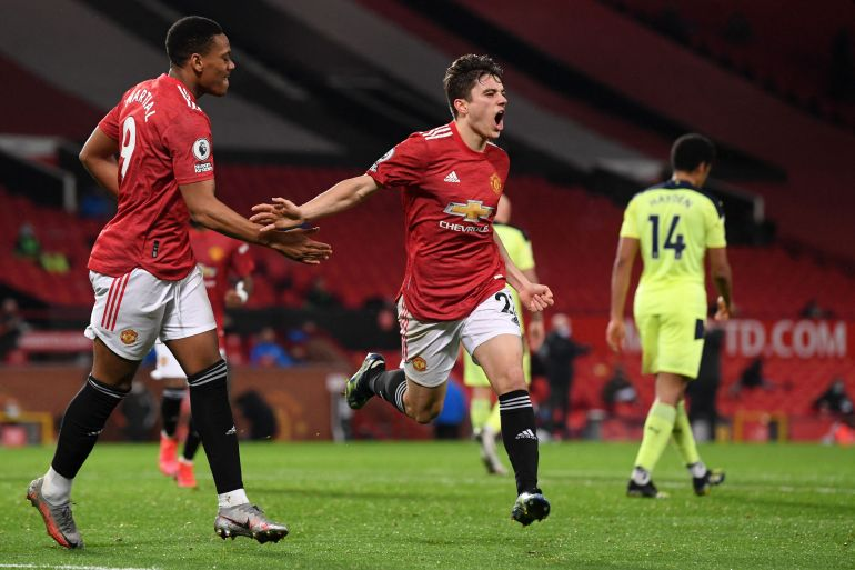 Daniel James scored his fifth goal of the season in a win over Newcastle