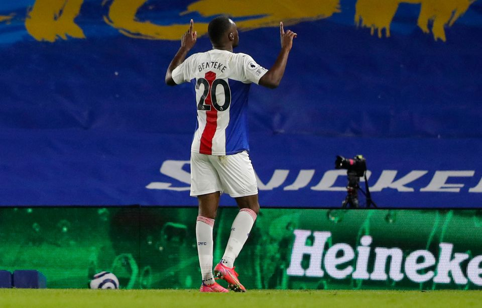 Benteke shot a dramatic winner to seal an unlikely victory for Palace against Brighton on Monday night