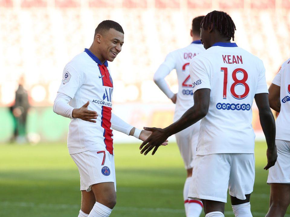 Kean looked at home alongside Mbappe last season