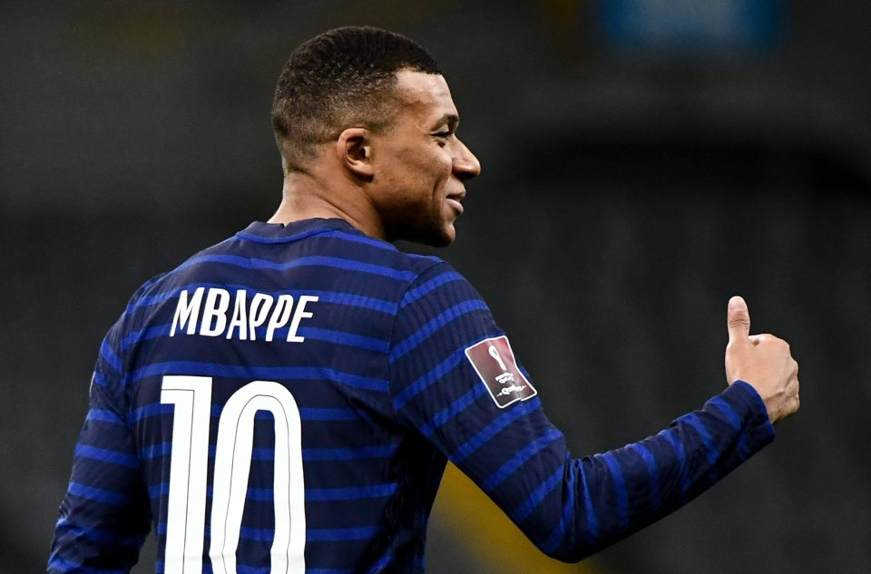 Kylian Mbappe has scored 16 goals in 41 games for France