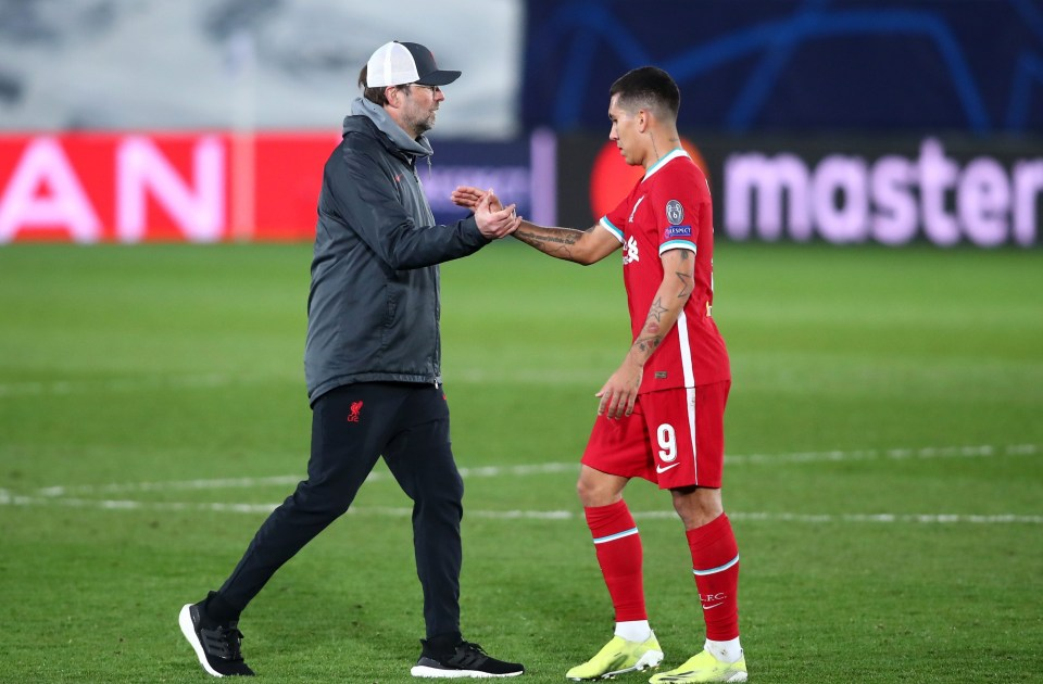 Liverpool boss Jurgen Klopp remained a big supporter of Firmino during his difficult time