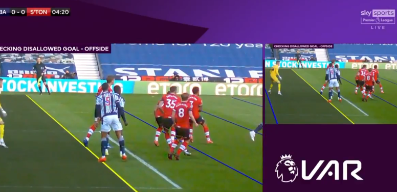 Diagne, standing in front of Bartley, seems to agree but VAR says camera angles are inconclusive