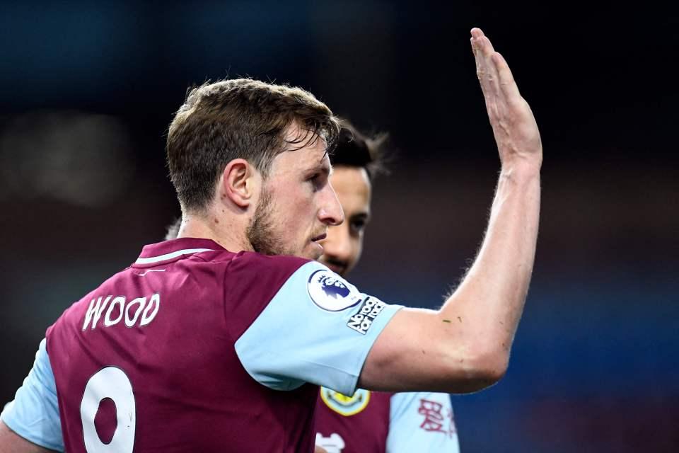 Wood broke the deadlock for Burnley, but their lead didn't last long