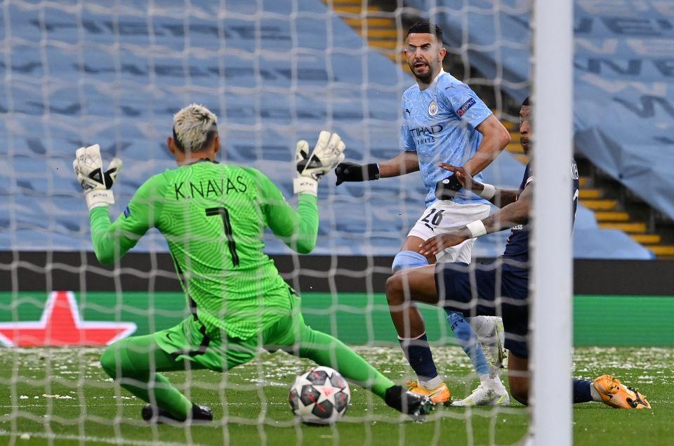Riyad Mahrez opened the scoring to put the tie beyond PSG
