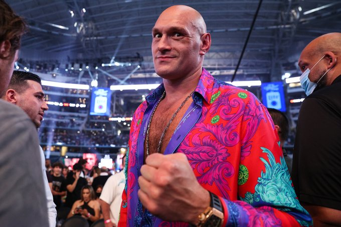 Tyson Fury was in Dallas to support his close friend Saunders earlier this month