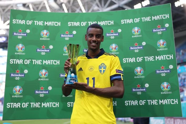 Isak, şu ana kadar EURO 2020'nin öne çıkan yıldızlarından biri oldu