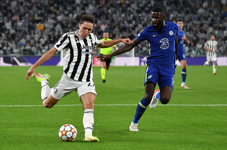 Federico Chiesa hit the ground running against Chelsea in the Champions League in October