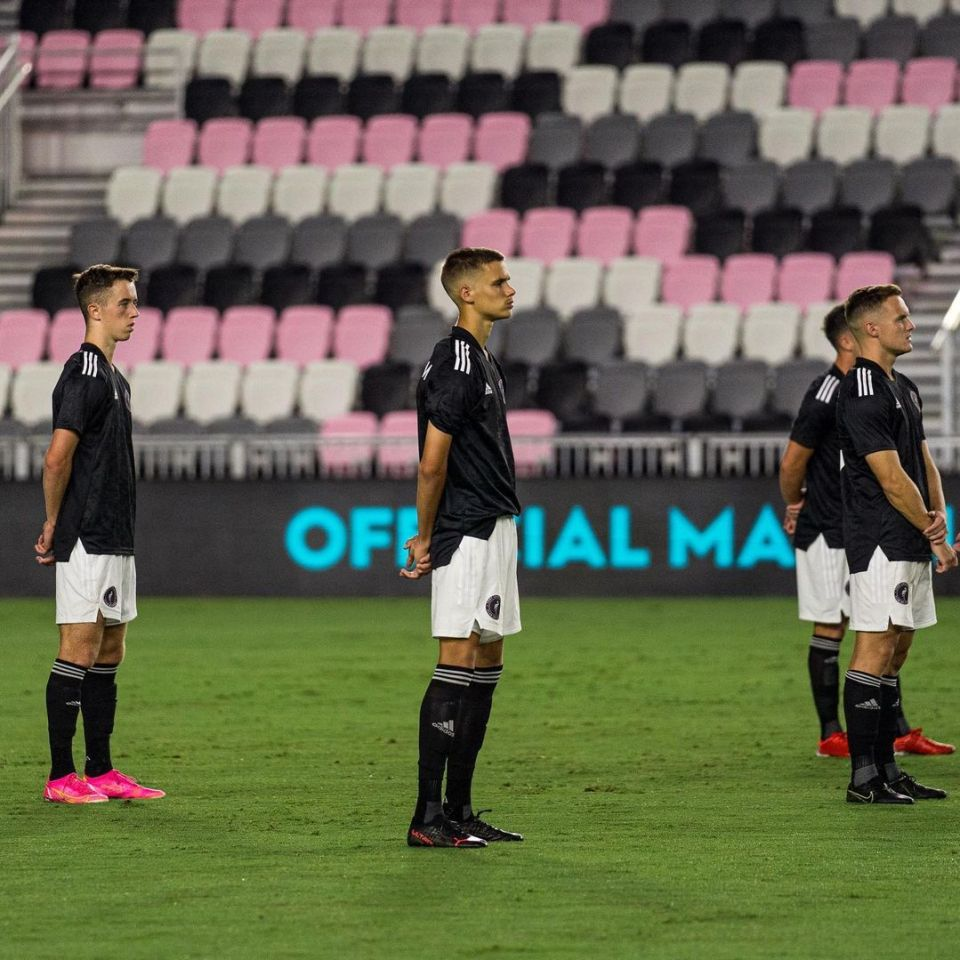 Romeo (centre) and Harvey (left) should get more opportunities to impress for Inter Miami's reserve side