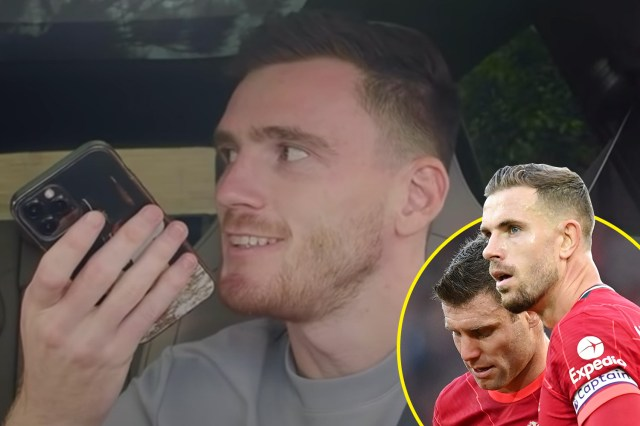 Andy Robertson pleads with Jordan Henderson to let him take over from James Milner as Liverpool vice-captain in hilarious prank after losing challenge to Trent Alexander-Arnold